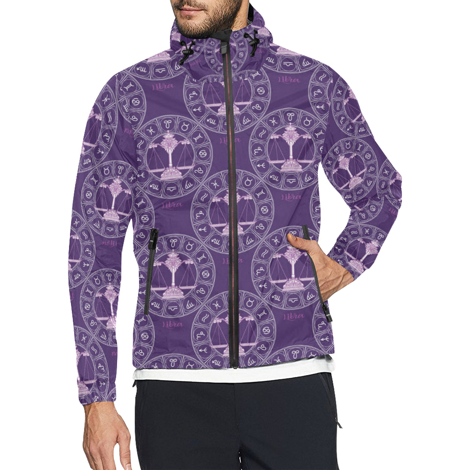 Libra Pattern Print Design 03 Unisex Windbreaker Jacket
