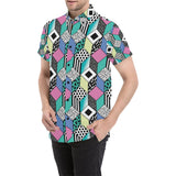 90s Pattern Print Design 3 Men's All Over Print Shirt (Model T53)-kunshirts.com