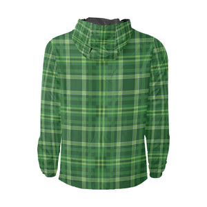 Irish Plaid Pattern Print Design 02 Unisex Windbreaker Jacket