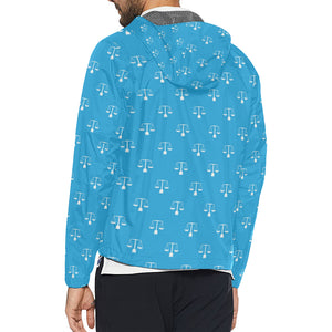 Libra Pattern Print Design 02 Unisex Windbreaker Jacket