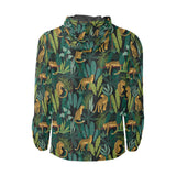 Jaguar Jungle Pattern Print Design 03 Unisex Windbreaker Jacket