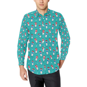 Pill Pattern Print Design A03 Long Sleeve Dress Shirt