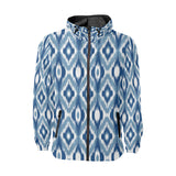Ikat Pattern Print Design 03 Unisex Windbreaker Jacket