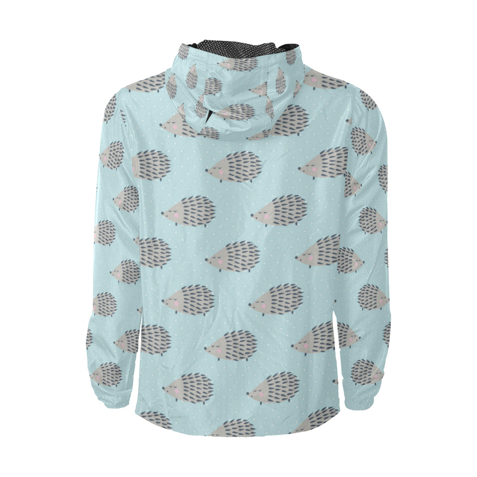 Hedgehog Pattern Print Design 02 Unisex Windbreaker Jacket