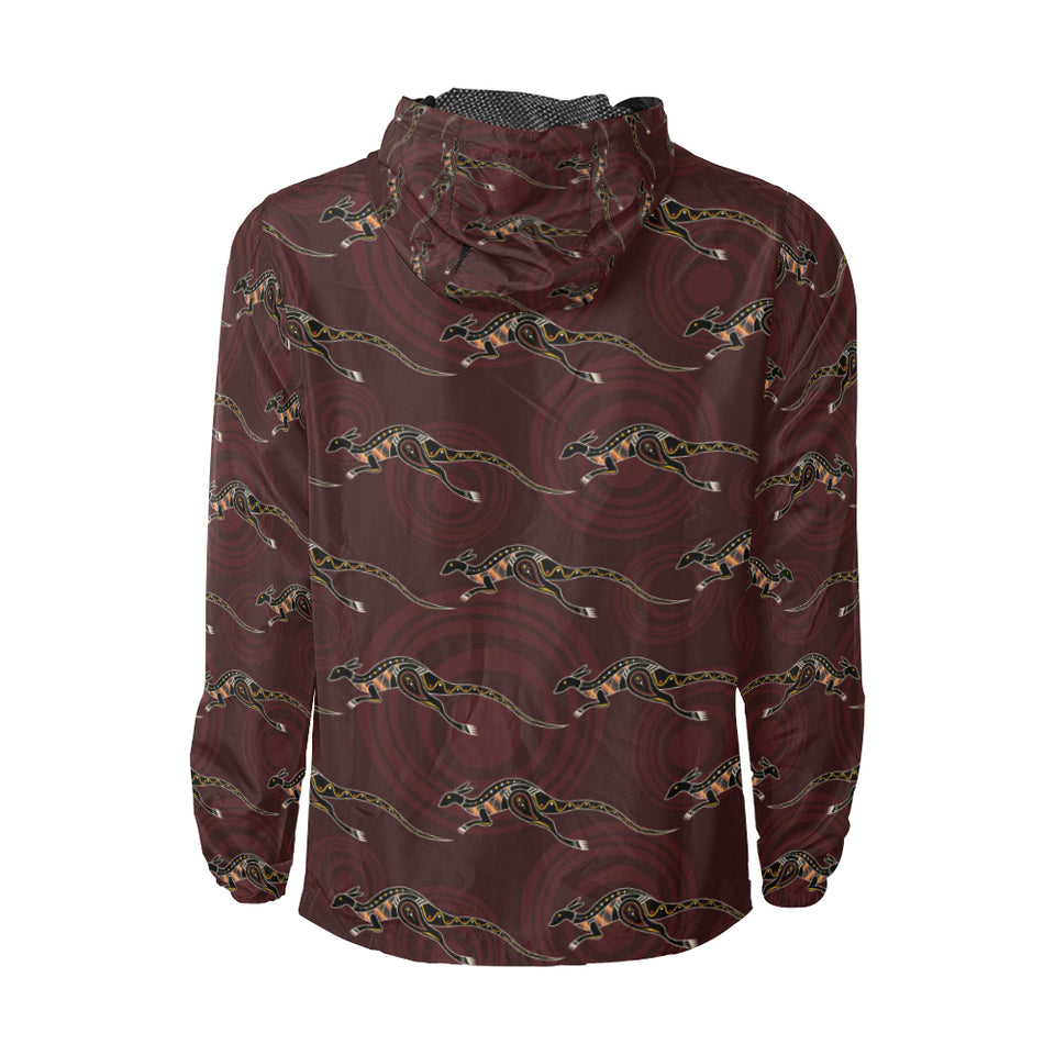 Kangaroos Pattern Print Design 05 Unisex Windbreaker Jacket