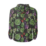 Lettuce Pattern Print Design 01 Unisex Windbreaker Jacket