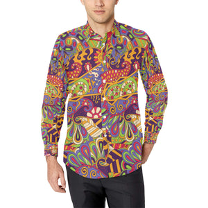 Pucci Pattern Print Design A04 Long Sleeve Dress Shirt