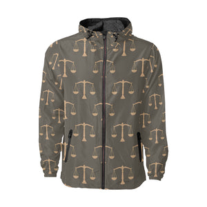 Libra Pattern Print Design 01 Unisex Windbreaker Jacket