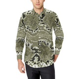 Python Pattern Print Design A04 Long Sleeve Dress Shirt