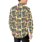 Synthesizer Pattern Print Design 01 Long Sleeve Dress Shirt