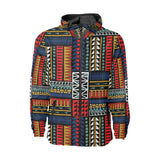 Kente Pattern Print Design 02 Unisex Windbreaker Jacket