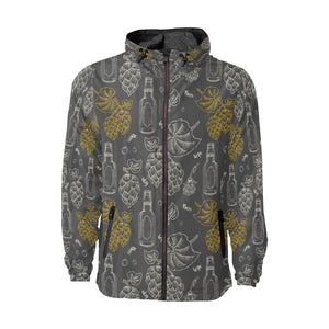 Hope Pattern Print Design 01 Unisex Windbreaker Jacket