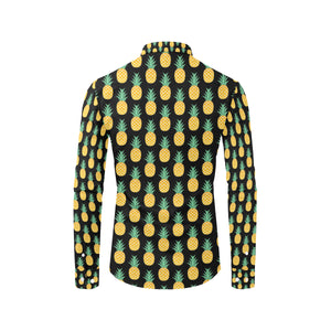 Pineapple Pattern Print Design A03 Long Sleeve Dress Shirt