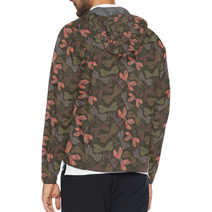Dragonfly Pattern Print Design 02 Unisex Windbreaker Jacket
