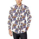 Turkey Pattern Print Design 01 Long Sleeve Dress Shirt
