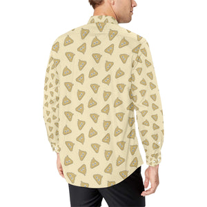 Poop Emoji Pattern Print Design A02 Long Sleeve Dress Shirt