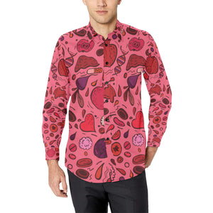 Phlebotomist Pattern Print Design A01 Long Sleeve Dress Shirt