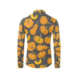 Pumpkin Pattern Print Design A03 Long Sleeve Dress Shirt