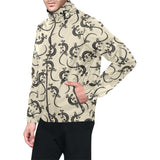 lizard Pattern Print Design 02 Unisex Windbreaker Jacket