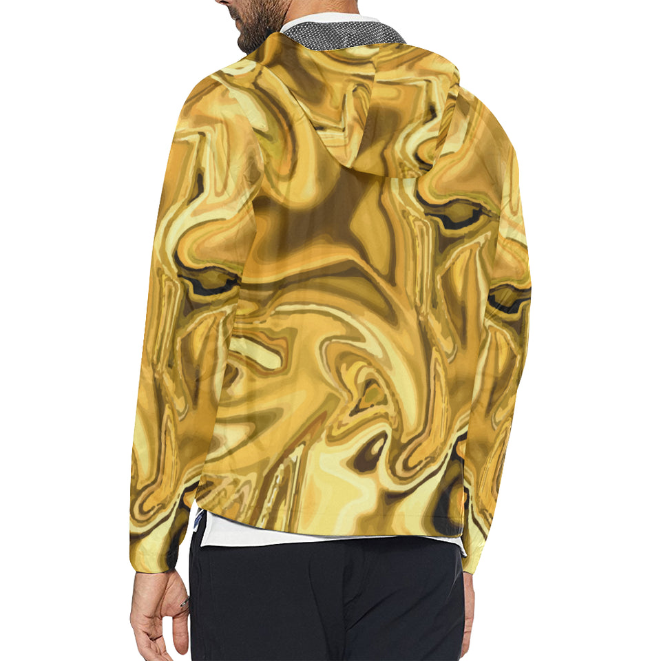 Liquid Pattern Print Design 03 Unisex Windbreaker Jacket
