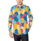 Psychology Pattern Print Design A02 Long Sleeve Dress Shirt