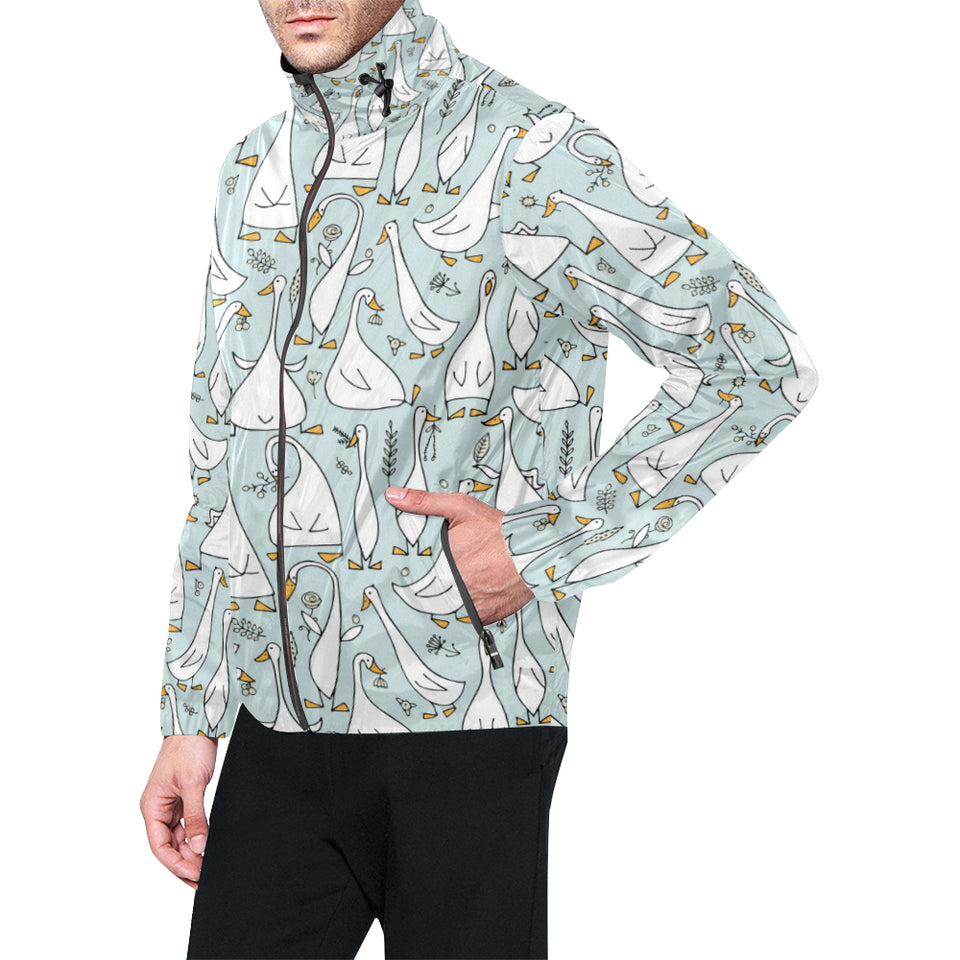 Goose Pattern Print Design 03 Unisex Windbreaker Jacket