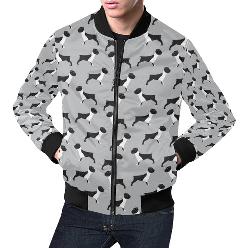 Boxers Pattern Print Design 01 Men Bomber Jacket