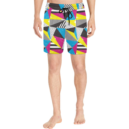 80s Pattern Print Design 2 Men Shorts