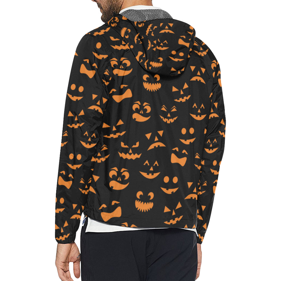 Halloween Pattern Print Design 02 Unisex Windbreaker Jacket