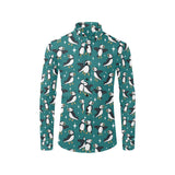 Puffin Pattern Print Design A05 Long Sleeve Dress Shirt