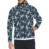 Flying Fish Pattern Print Design 04 Unisex Windbreaker Jacket