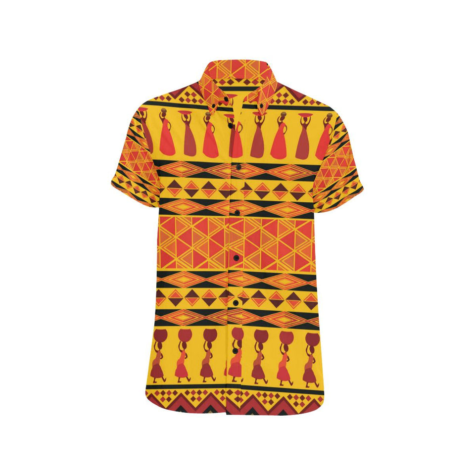 African Pattern Print Design 01 Men's All Over Print Shirt (Model T53)-kunshirts.com