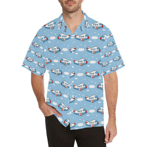 Airplane Cartoon Pattern Print Design 07 Hawaiian Shirt-kunshirts.com