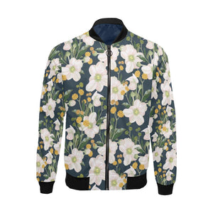 Anemone Pattern Print Design AM04 Men Bomber Jacket-kunshirts.com