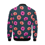 Anemone Pattern Print Design AM08 Men Bomber Jacket-kunshirts.com