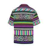 Animal Skin Aztec Rainbow Hawaiian Shirt-kunshirts.com