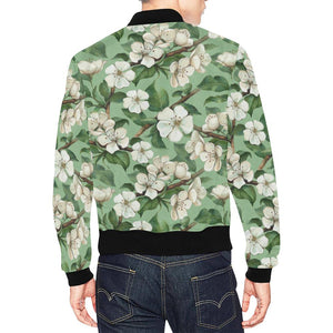 Apple blossom Pattern Print Design AB02 Men Bomber Jacket-kunshirts.com