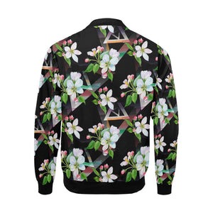 Apple blossom Pattern Print Design AB07 Men Bomber Jacket-kunshirts.com