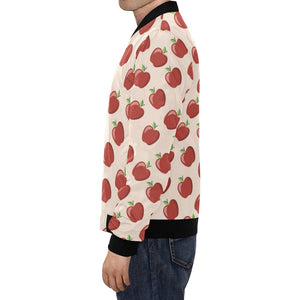 Apple Pattern Print Design AP01 Men Bomber Jacket-kunshirts.com