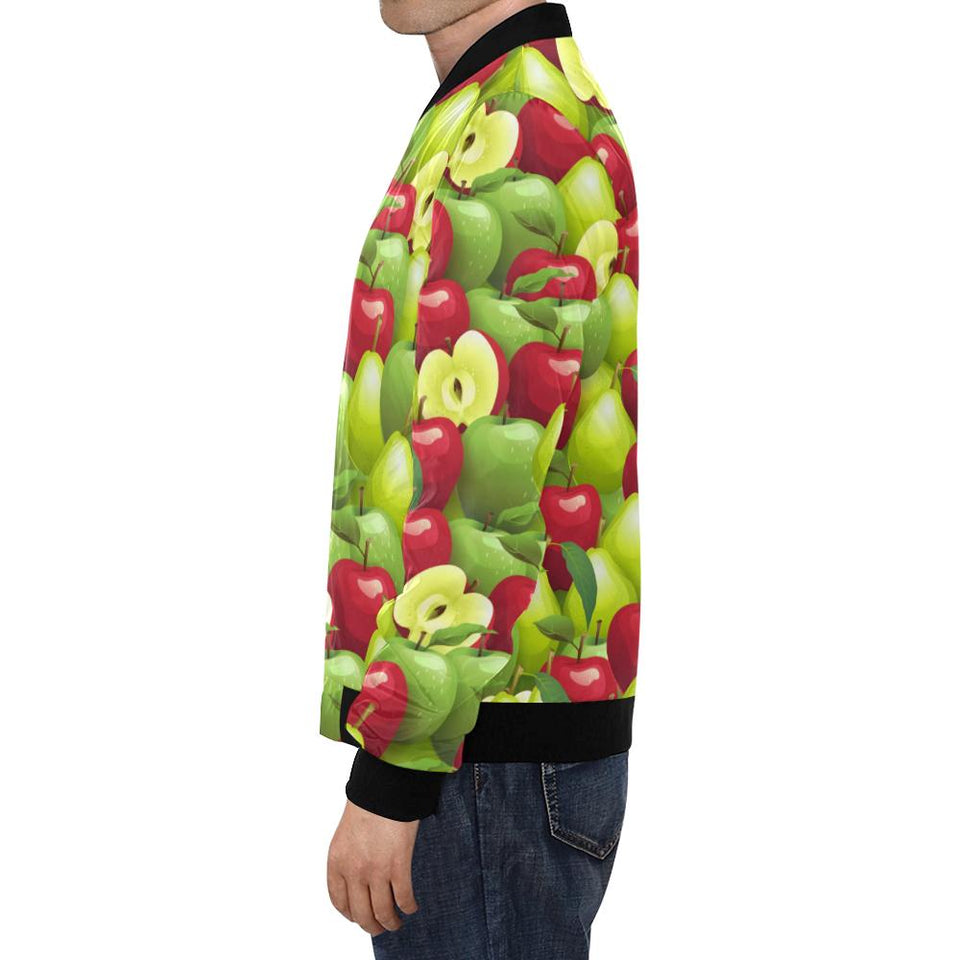 Apple Pattern Print Design AP03 Men Bomber Jacket-kunshirts.com