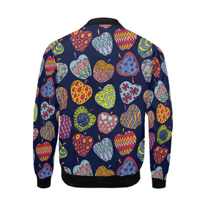 Apple Pattern Print Design AP05 Men Bomber Jacket-kunshirts.com