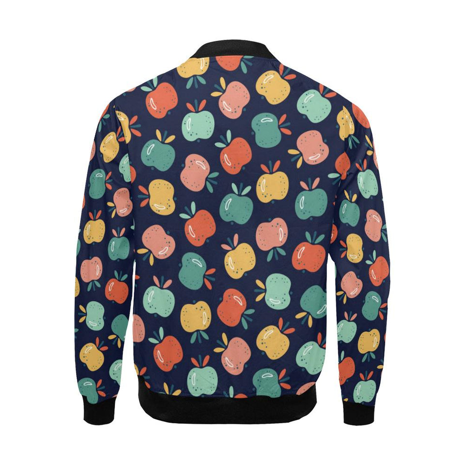 Apple Pattern Print Design AP09 Men Bomber Jacket-kunshirts.com