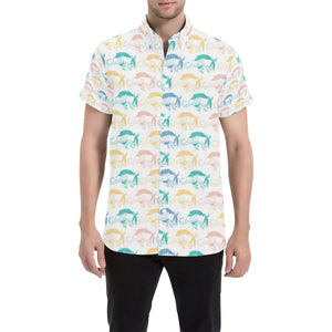 Armadillo Pattern Print Design 05 Men's All Over Print Shirt (Model T53)-kunshirts.com