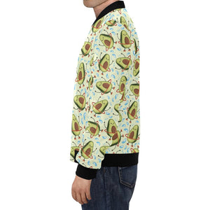 Avocado Pattern Print Design AC02 Men Bomber Jacket-kunshirts.com