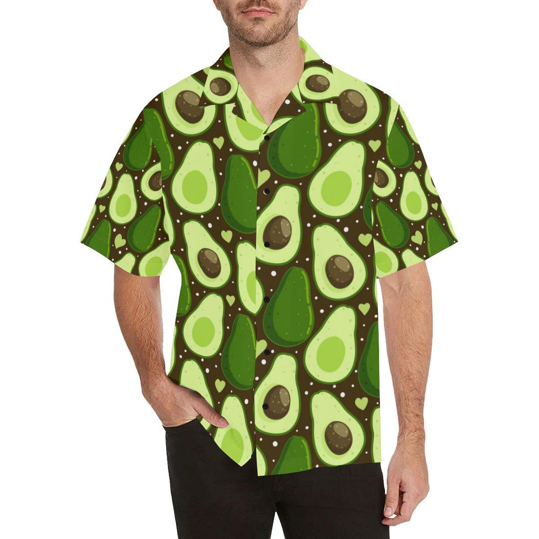 Avocado Pattern Print Design AC04 Hawaiian Shirt-kunshirts.com