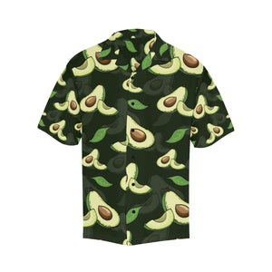 Avocado Pattern Print Design AC07 Hawaiian Shirt-kunshirts.com