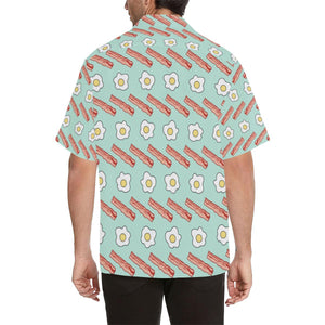 Bacon Sausage Pattern Print Design 01 Hawaiian Shirt-kunshirts.com
