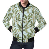 Banana Leaf Pattern Print Design BL03 Men Bomber Jacket-kunshirts.com