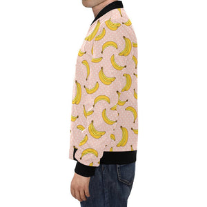 Banana Pattern Print Design BA06 Men Bomber Jacket-kunshirts.com