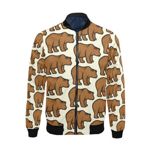 Bear Pattern Print Design BE05 Men Bomber Jacket-kunshirts.com